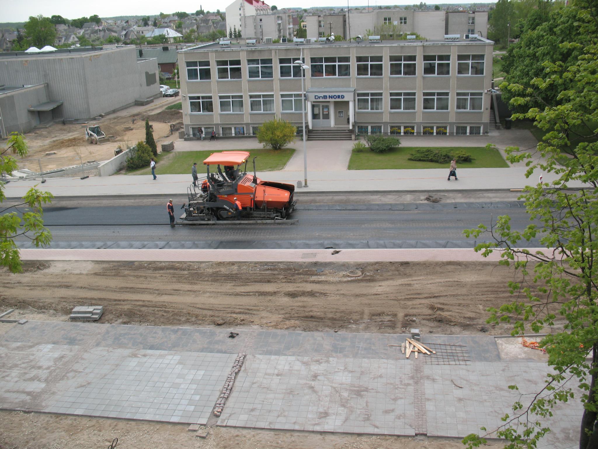 Klaipėdos g. rekonstrukcija 2008 m.